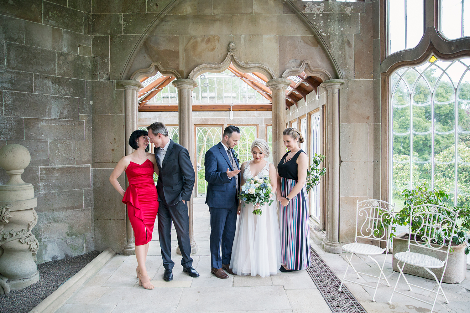 wedding-guests-waiting-to-be-photographed-culzean-castle